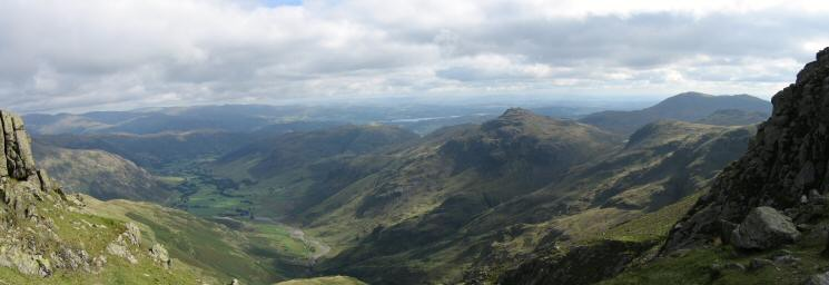 Great Langdale and Pike o' Blisco with Windermere in the distance