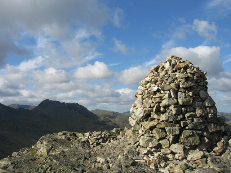 Bowfell from Pike o' Blisco's summit cairn