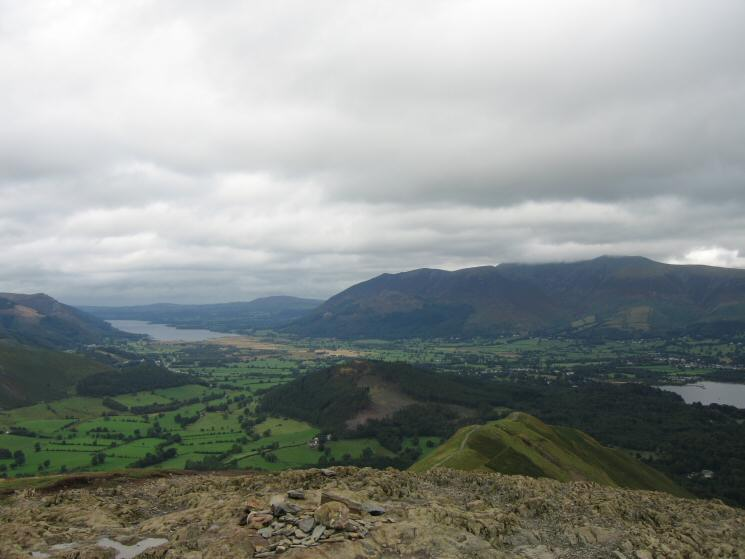 The view north from Catbells summit