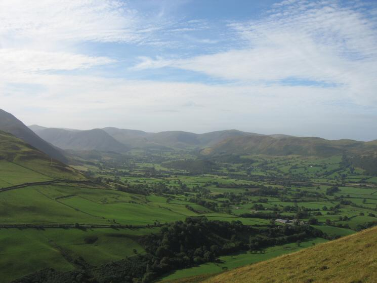 The Vale of Lorton from our ascent of Graystones