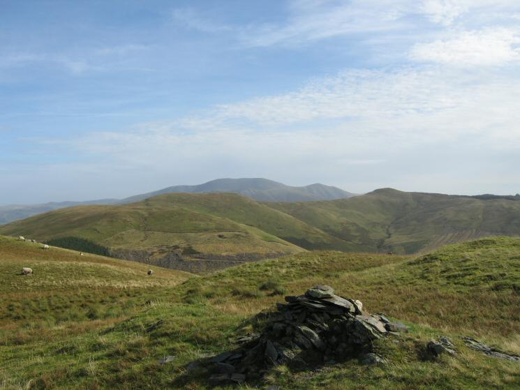 Broom Fell and Lord's Seat with Skiddaw behind from Graystones' summit