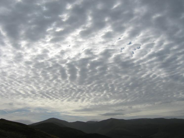The sky over Grisedale Pike and Hopegill Head