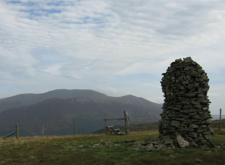 Skiddaw from Broom Fell's summit