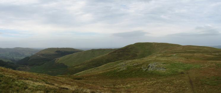 Looking back to Graystones and Broom Fell from Lord's Seat