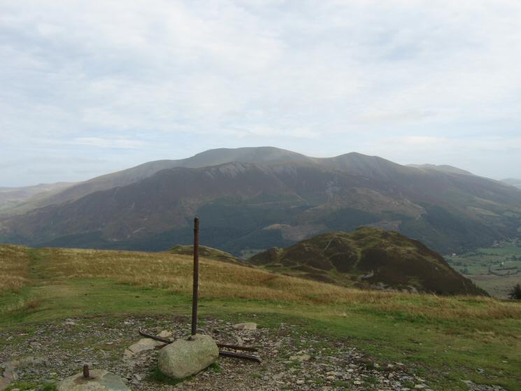 Skiddaw and Barf from Lord's Seat's summit