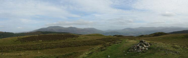 Skiddaw and the Dodds from Whinlatter Top