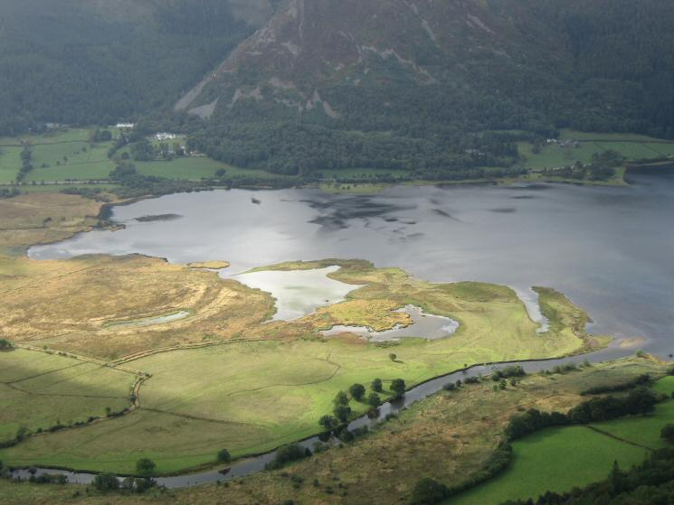 The head of Bassenthwaite Lake and the River Derwent