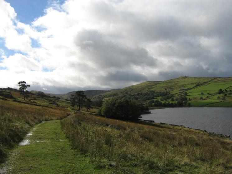 Track along the side of Wet Sleddale Reservoir