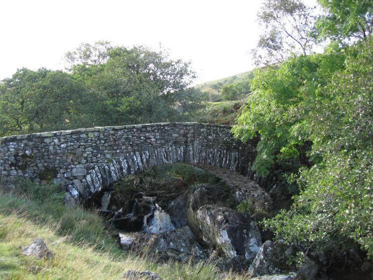 The new 'packhorse' bridge across Sleddale Beck