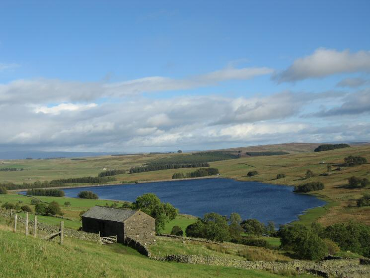 Wet Sleddale Reservoir from near Sleddale Hall