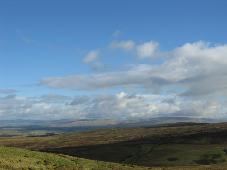 The Howgills to the southeast