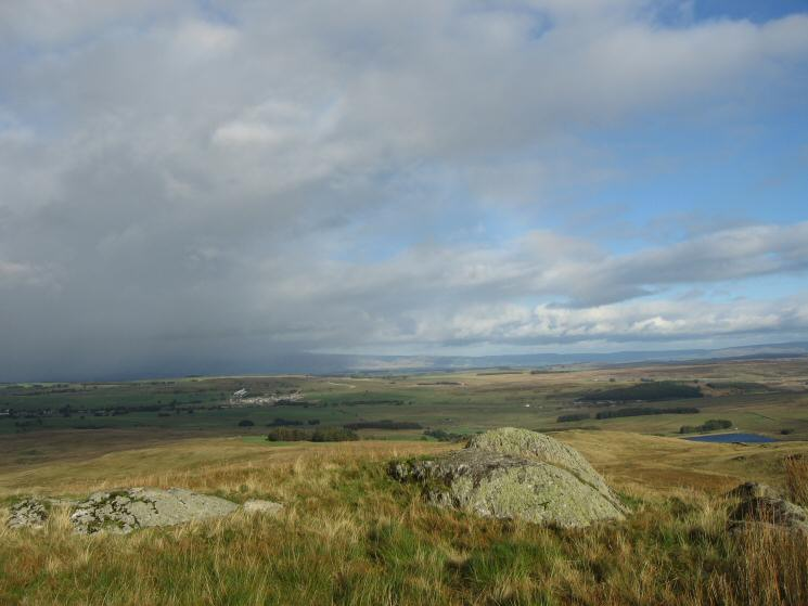 The view east from Gambling Crag