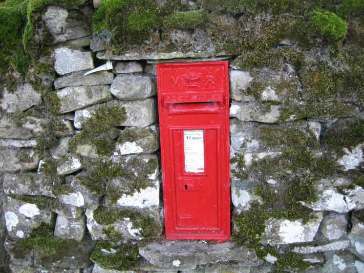 The post box at Thorney Bank