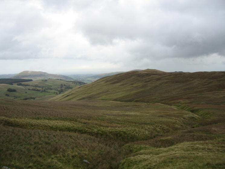 Common Fell with Great Mell Fell on the left