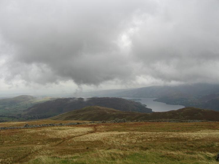 Ullswater and Gowbarrow Fell from Birkett Fell's summit