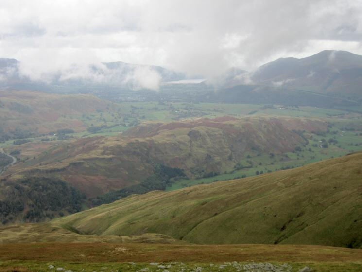 Looking down on High Rigg from Watson's Dodd's summit