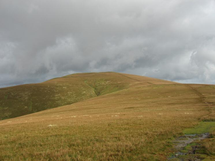 Great Dodd from its ridge with Watson's Dodd