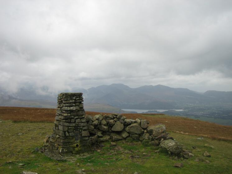 The north western fells from Clough Head's summit