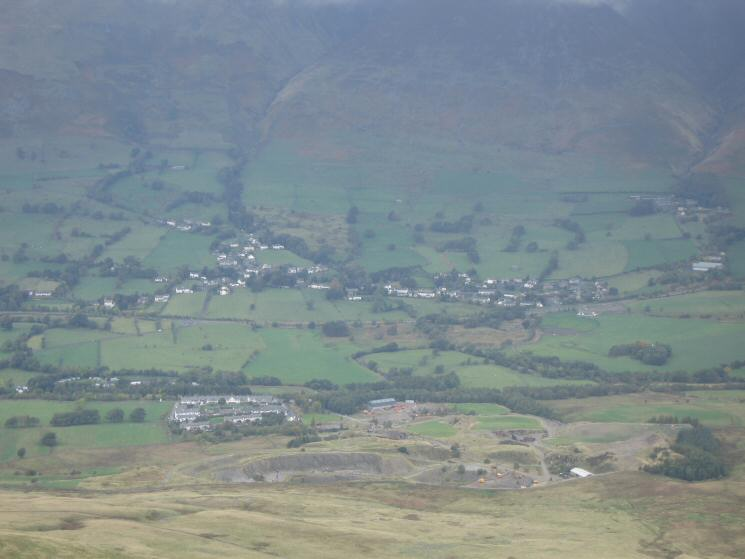 Looking down on Threlkeld from Clough Head