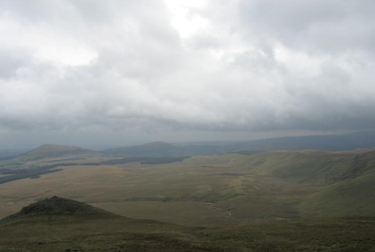 Looking over White Pike to Great Mell Fell and Little Mell Fell