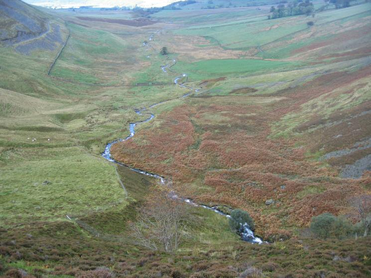 Looking down on Dash Beck