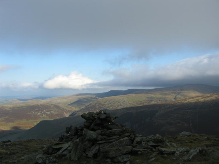The Uldale Fells from Bakestall's summit cairn