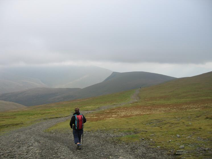 Heading for Lonscale Fell