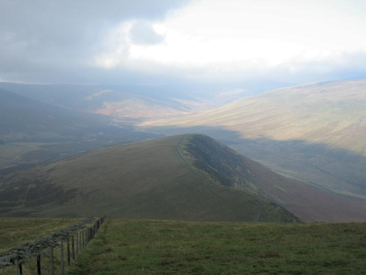 Looking down on Burnt Horse