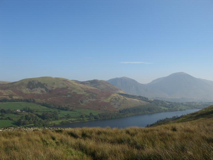 Darling Fell, Low Fell, Whiteside and Grasmoor seen over Loweswater from the Fangs Brow track