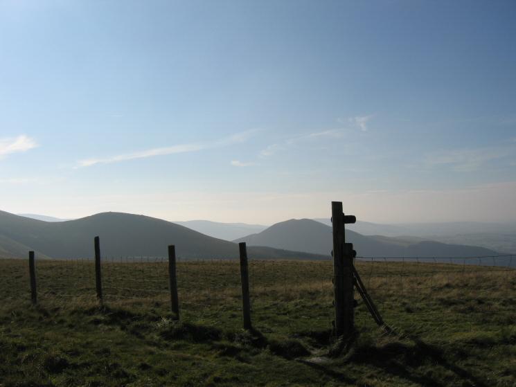 Sharp Knott and Knock Murton from Burnbank Fell's summit