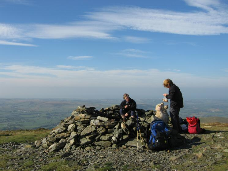 Feeding time, Blake Fell's summit