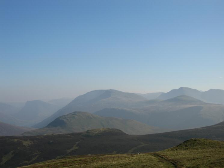 The higher western fells from Blake Fell's summit