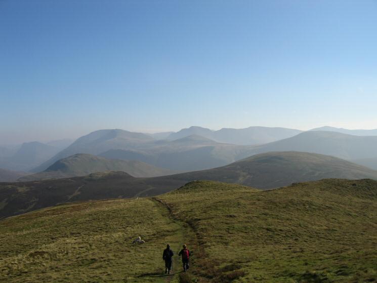 Leaving Blake Fell's summit heading for Gavel Fell