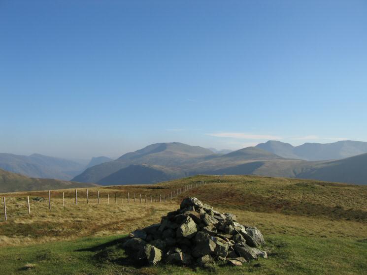 The western fells from Gavel Fell's summit