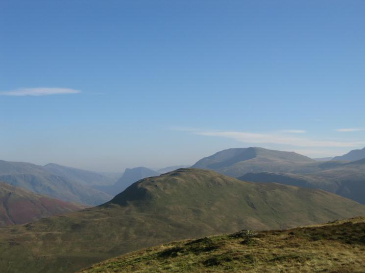 Hen Comb with Fleetwith Pike, High Stile and Red Pike behind from Gavel Fell