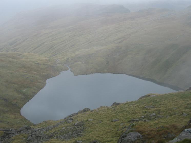 Angle Tarn from the path down from Ore Gap