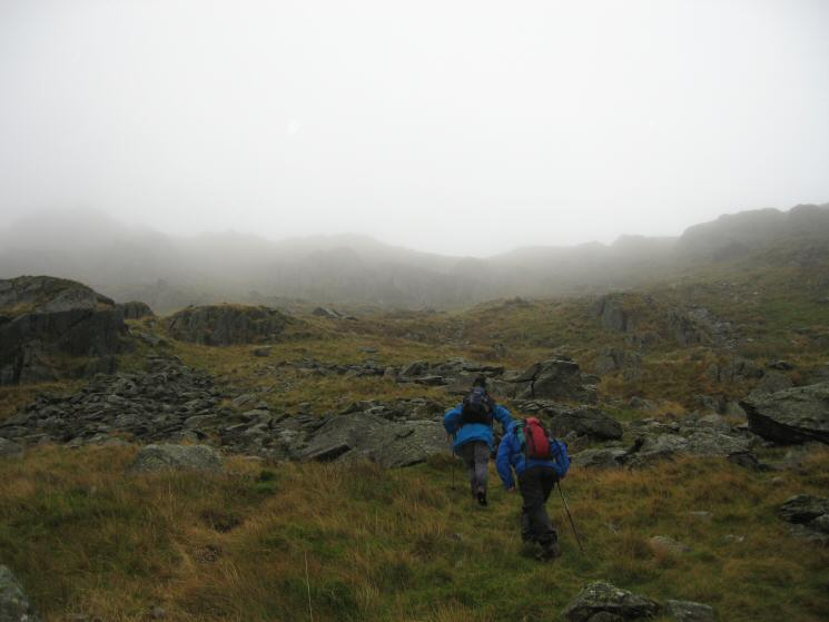 The steep section up to Deepdale Hause
