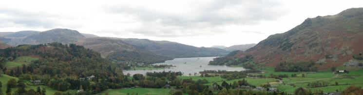 Head of Ullswater panorama from our descent off Arnison Crag
