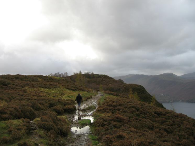 Heading for Walla Crag's summit