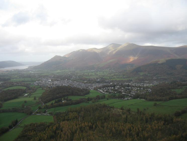 Keswick with the Skiddaw Fells behind