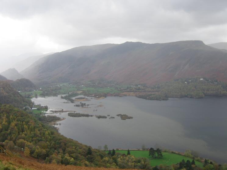 The head of Derwent Water and flooded Cannon Dub