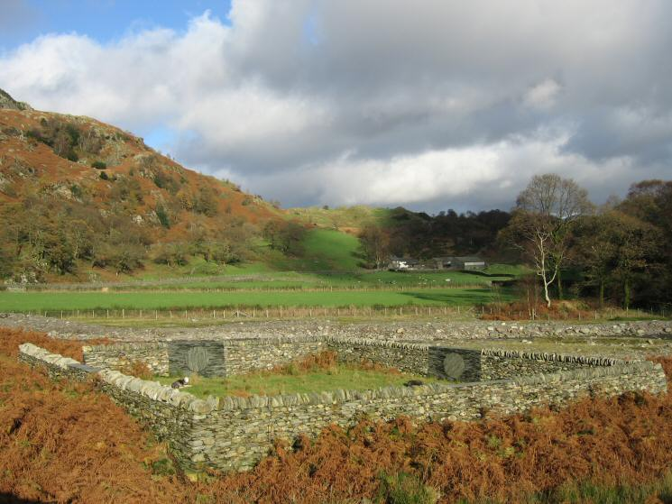 The Andy Goldsworthy sheepfold at Low Tilberthwaite