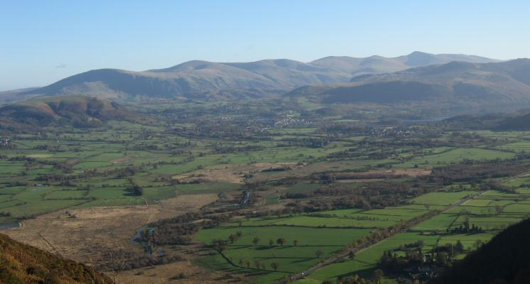 Another shot of the Vale of Keswick and the Helvellyn ridge