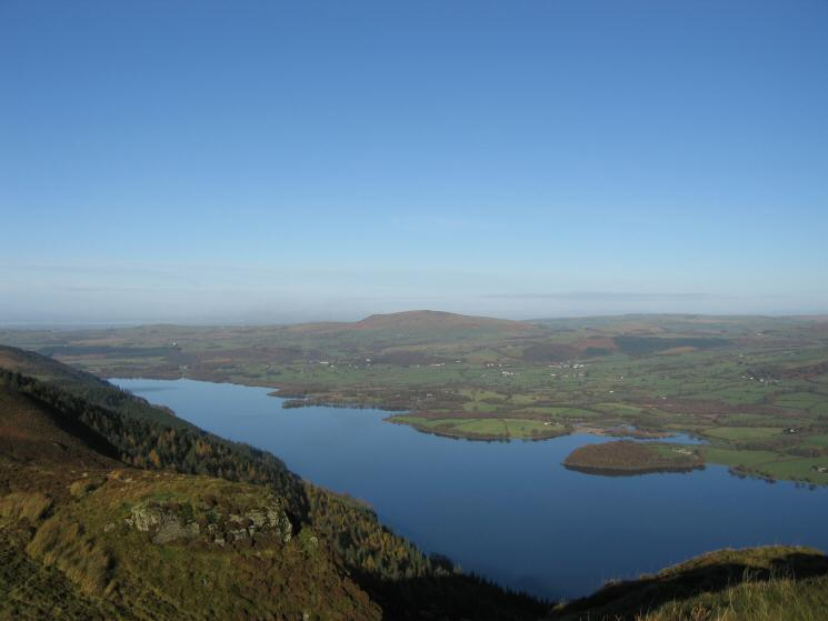 Bassenthwaite Lake with Binsey beyond from Barf's summit