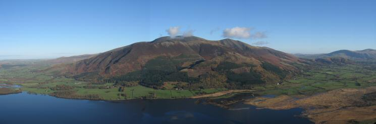 Looking over Bassenthwaite Lake to the Skiddaw Fells