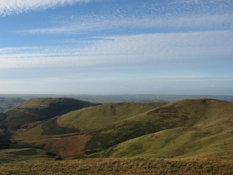 Graystones and Broom Fell from Lord's Seat's summit