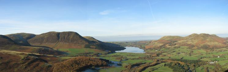 Loweswater fells panorama from Mellbreak