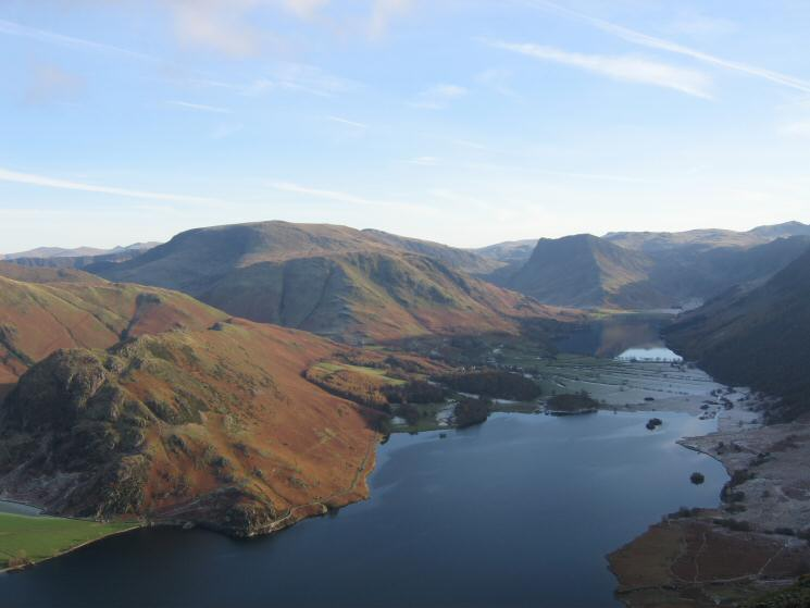 Crummock Water with Buttermere beyond