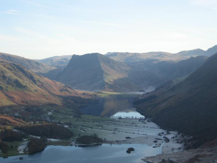 Zooming in on Buttermere and Fleetwith Pike