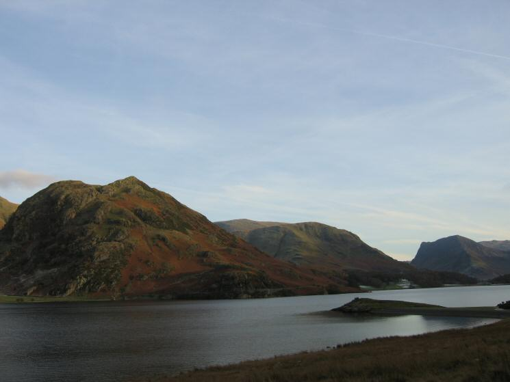 Rannerdale Knotts, Robinson and Fleetwith Pike from near Low Ling Crag